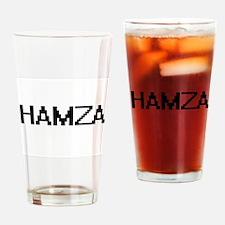 Hamza Digital Name Design Drinking Glass