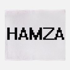 Hamza Digital Name Design Throw Blanket