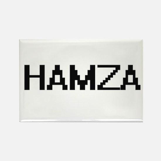 Hamza Digital Name Design Magnets