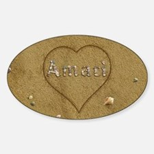 Amari Beach Love Sticker (Oval)