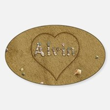 Alvin Beach Love Sticker (Oval)