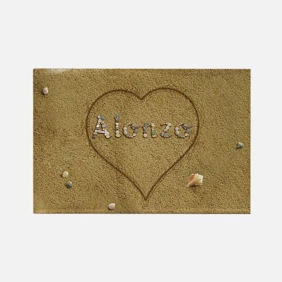 Alonzo Beach Love Rectangle Magnet