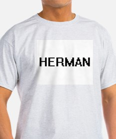 Herman Digital Name Design T-Shirt