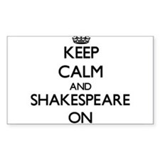 Keep Calm and Shakespeare ON Decal
