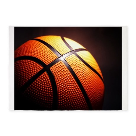 Basketball Ball 5u0027x7u0027Area Rug