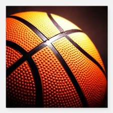 "Basketball Ball Square Car Magnet 3"" x 3"""