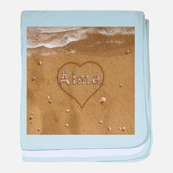 Alma Beach Love baby blanket