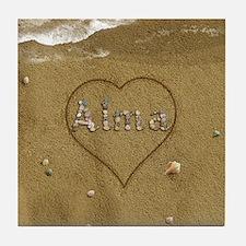 Alma Beach Love Tile Coaster