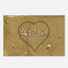 Alma Beach Love Postcards (Package of 8)