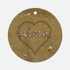 Alma Beach Love Ornament (Round)