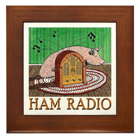 """""""HAM RADIO"""" Framed Tile"""