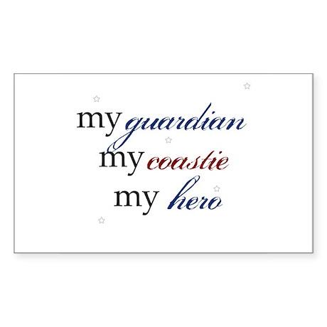 My Guardian, My Coastie, My H Sticker (Rectangular
