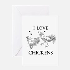 I Love Chickens Greeting Cards
