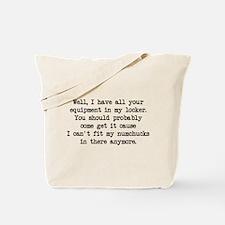 Can't Fit Numchucks (blk) - Napoleon Tote Bag