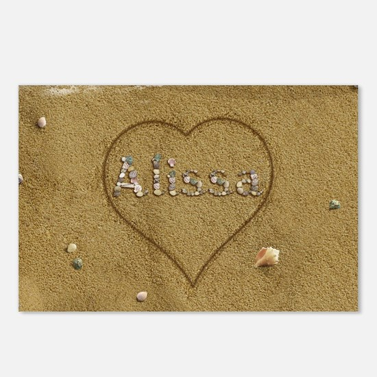 Alissa Beach Love Postcards (Package of 8)