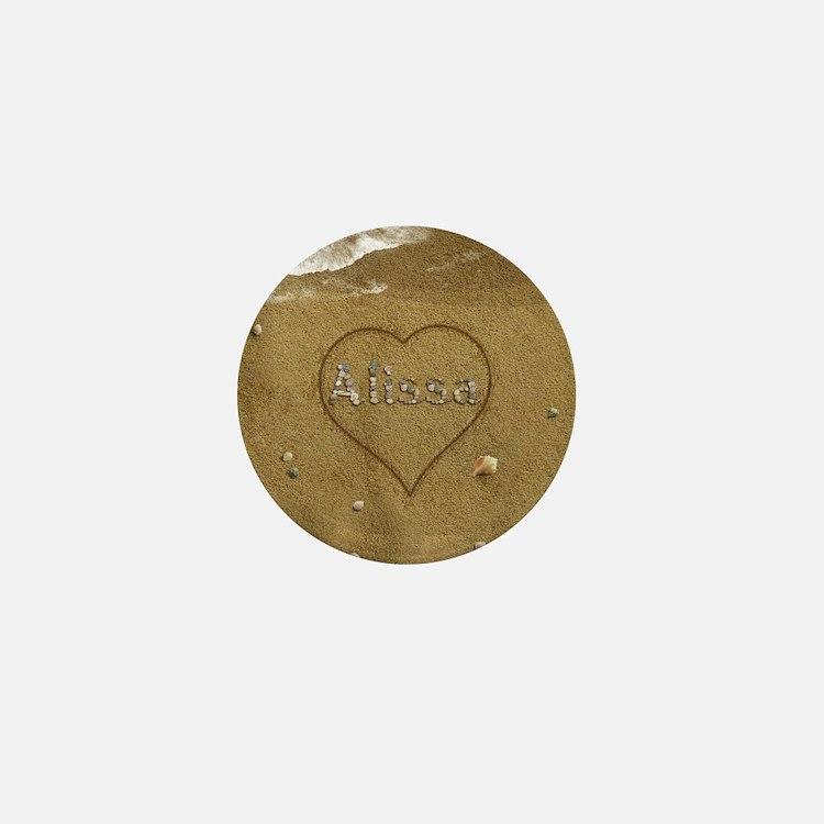 Alissa Beach Love Mini Button