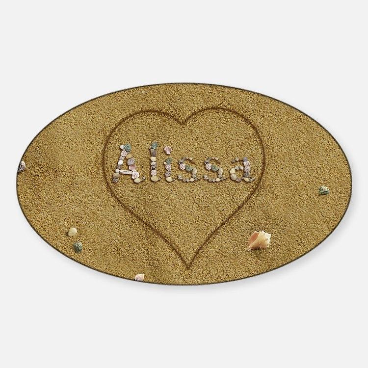 Alissa Beach Love Sticker (Oval)
