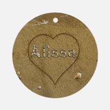 Alissa Beach Love Ornament (Round)