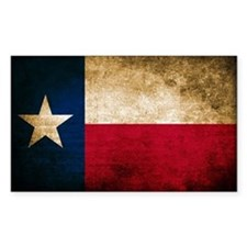 Vintage Flag of Texas Decal