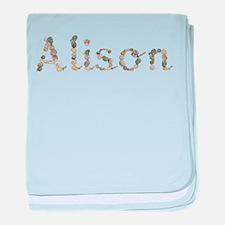 Alison Seashells baby blanket