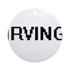 Irving Digital Name Design Ornament (Round)