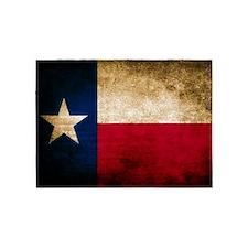 Vintage Flag of Texas 5'x7'Area Rug