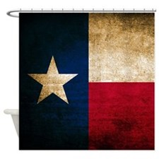 Vintage Flag of Texas Shower Curtain