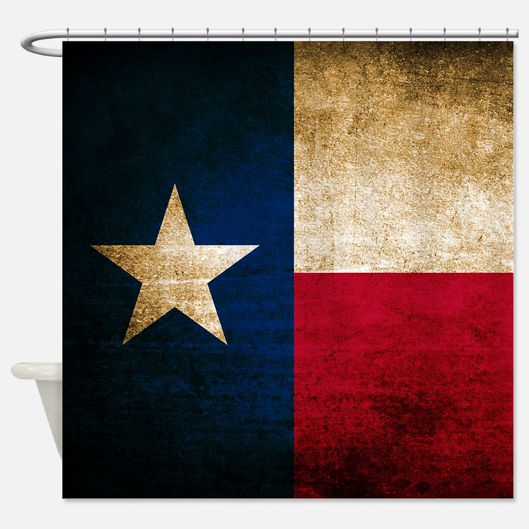 Vintage Flag of Texas Shower Curtain