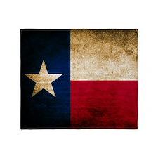 Vintage Flag of Texas Throw Blanket