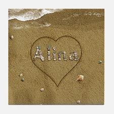 Alina Beach Love Tile Coaster