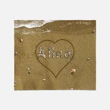 Alina Beach Love Throw Blanket