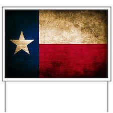 Vintage Flag of Texas Yard Sign