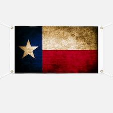 Vintage Flag of Texas Banner