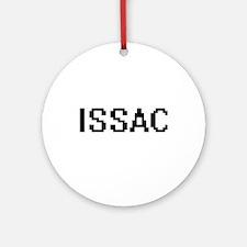 Issac Digital Name Design Ornament (Round)