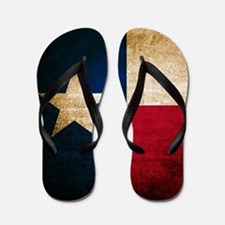 Vintage Flag of Texas Flip Flops