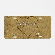 Alfonso Beach Love Aluminum License Plate