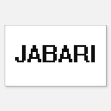 Jabari Digital Name Design Decal