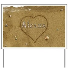 Alexus Beach Love Yard Sign