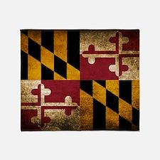 Funny Maryland Throw Blanket