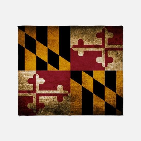 Unique Maryland flag Throw Blanket
