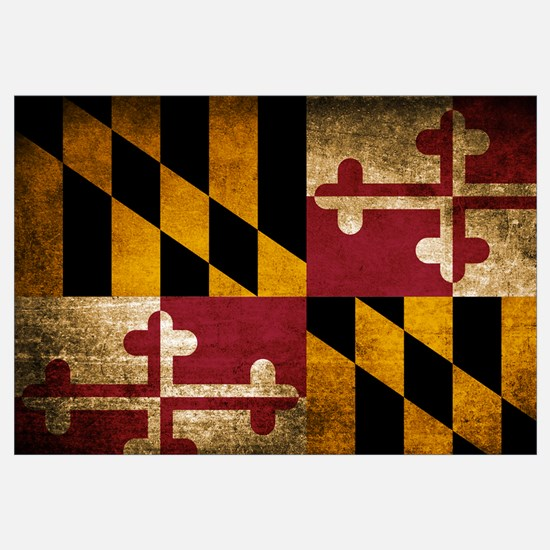 Unique Maryland flag Wall Art