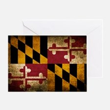 Unique Maryland flag Greeting Card