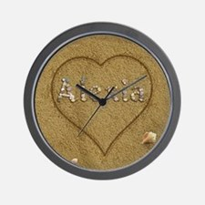 Alexia Beach Love Wall Clock