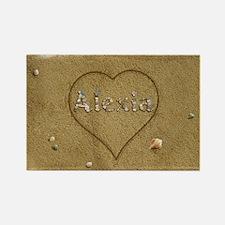 Alexia Beach Love Rectangle Magnet