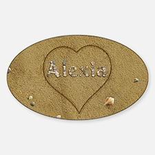 Alexia Beach Love Sticker (Oval)