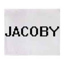 Jacoby Digital Name Design Throw Blanket