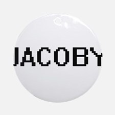 Jacoby Digital Name Design Ornament (Round)