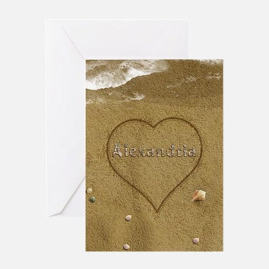 Alexandria Beach Love Greeting Card