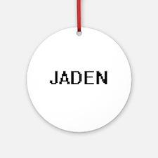 Jaden Digital Name Design Ornament (Round)