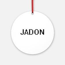 Jadon Digital Name Design Ornament (Round)